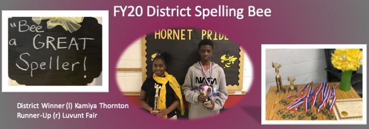 FY20 District Spelling Bee Winners