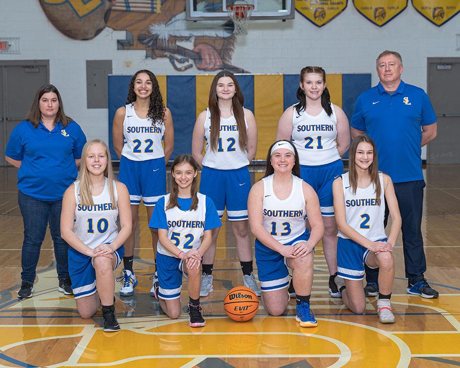 2020 Jr. High Girls Basketball team