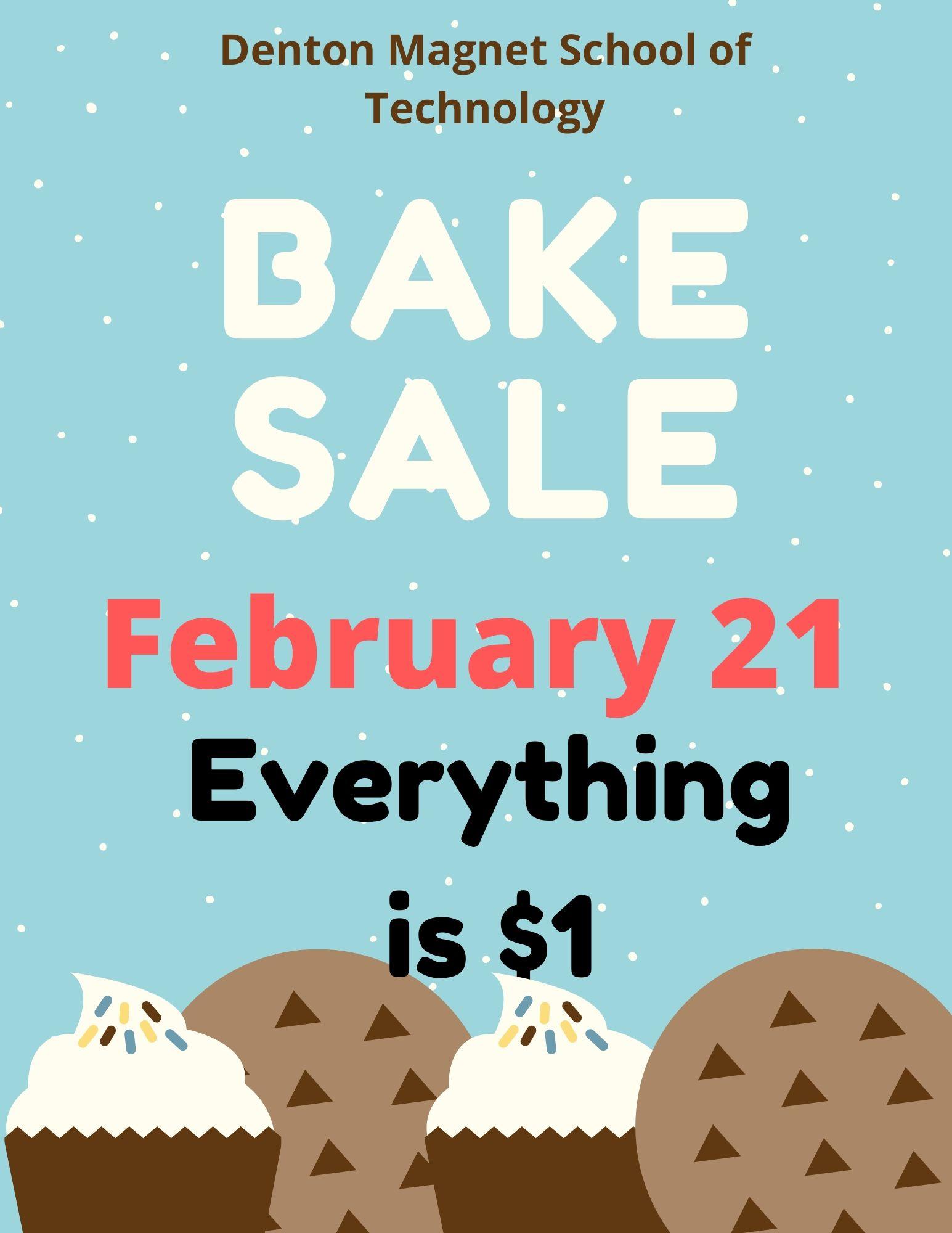 Bake Sale Feb. 21
