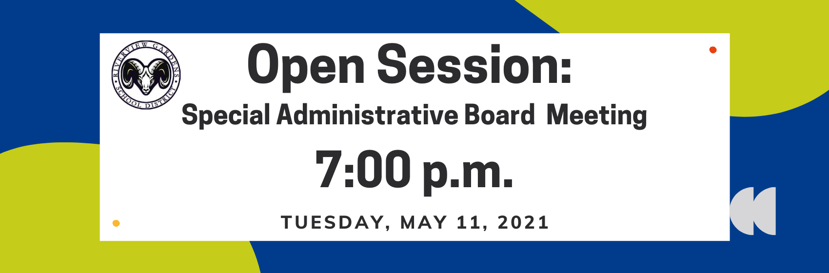 Special Administrative Board Meeting: Open Session 5-11-21