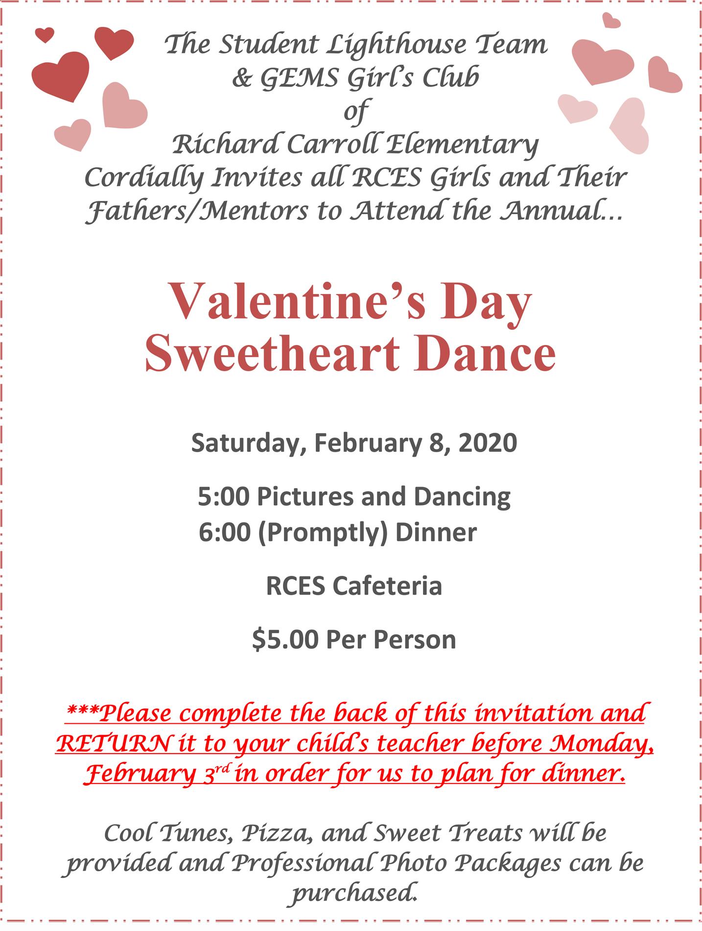 Valentine's Day Dance Flyer
