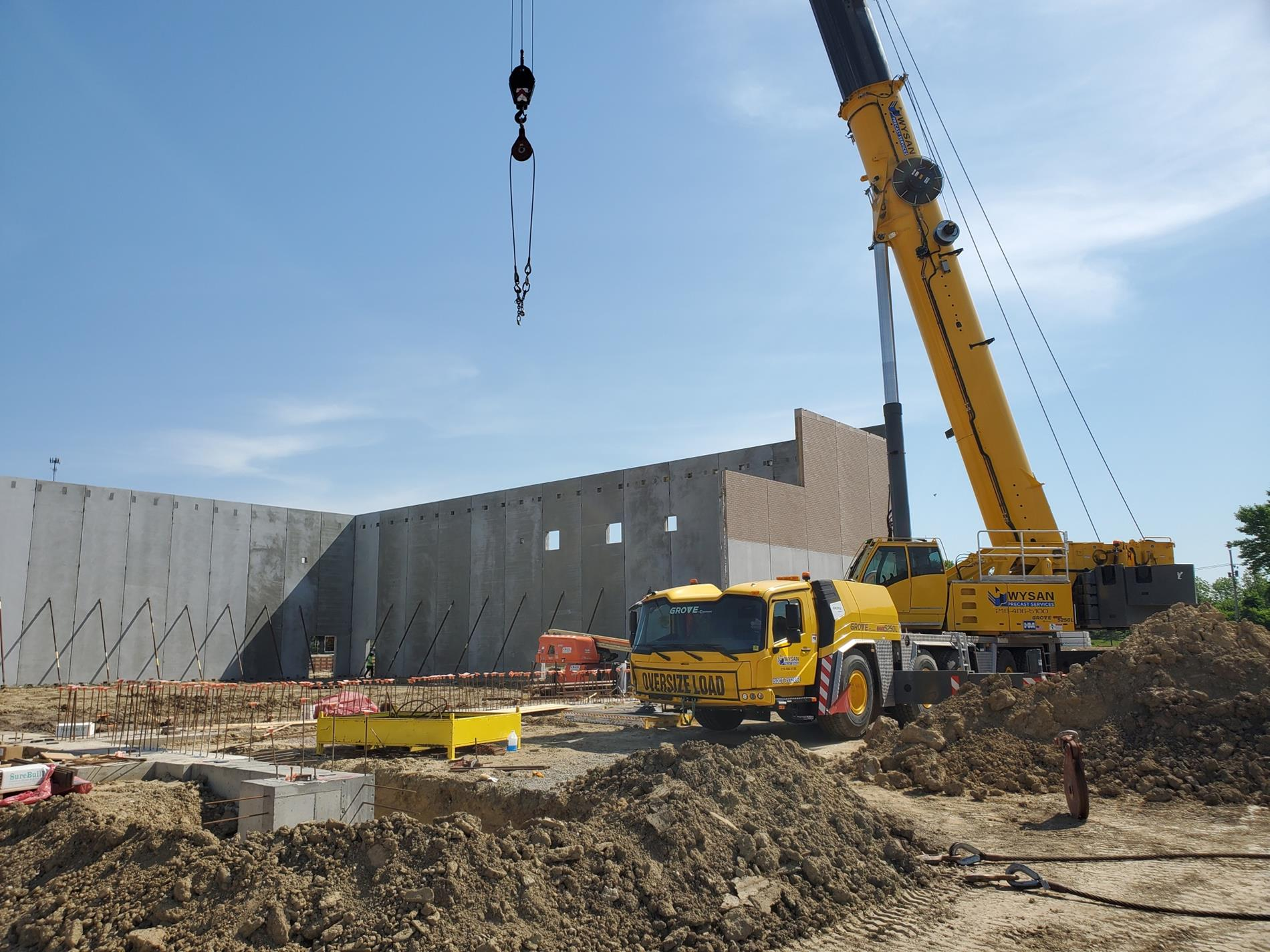 Inner gym walls are going up