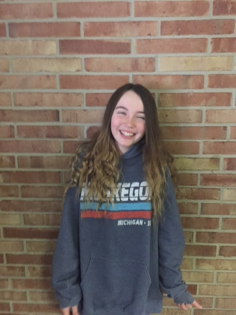 8th Grade Student of the Month Hailey Jones