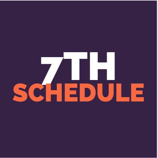7th grade weekly schedule