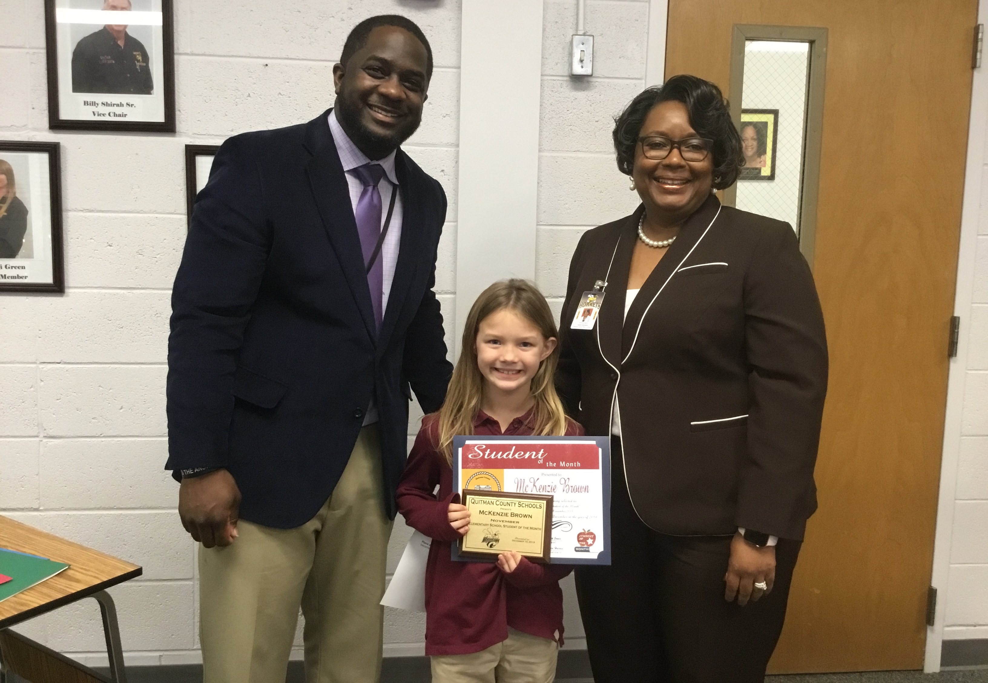 December Board Meeting - November 2019 Elementary Student of the Month - McKenzie Brown