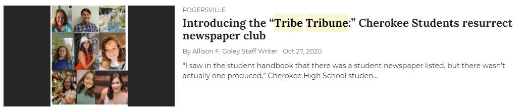 Introducing Tribe Tribune