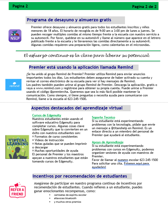 Newsletter Spanish page 2  10.15.20