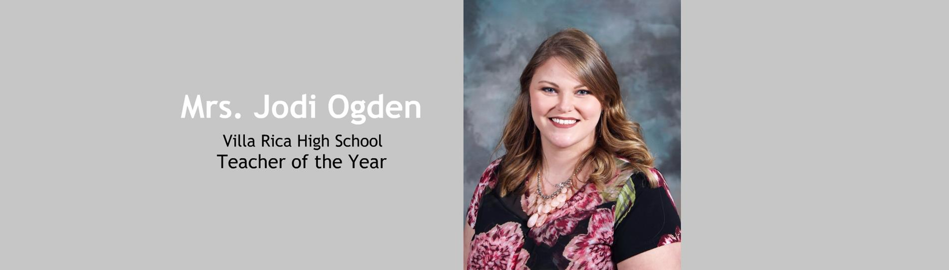 Mrs. Ogden - Teacher of the Year
