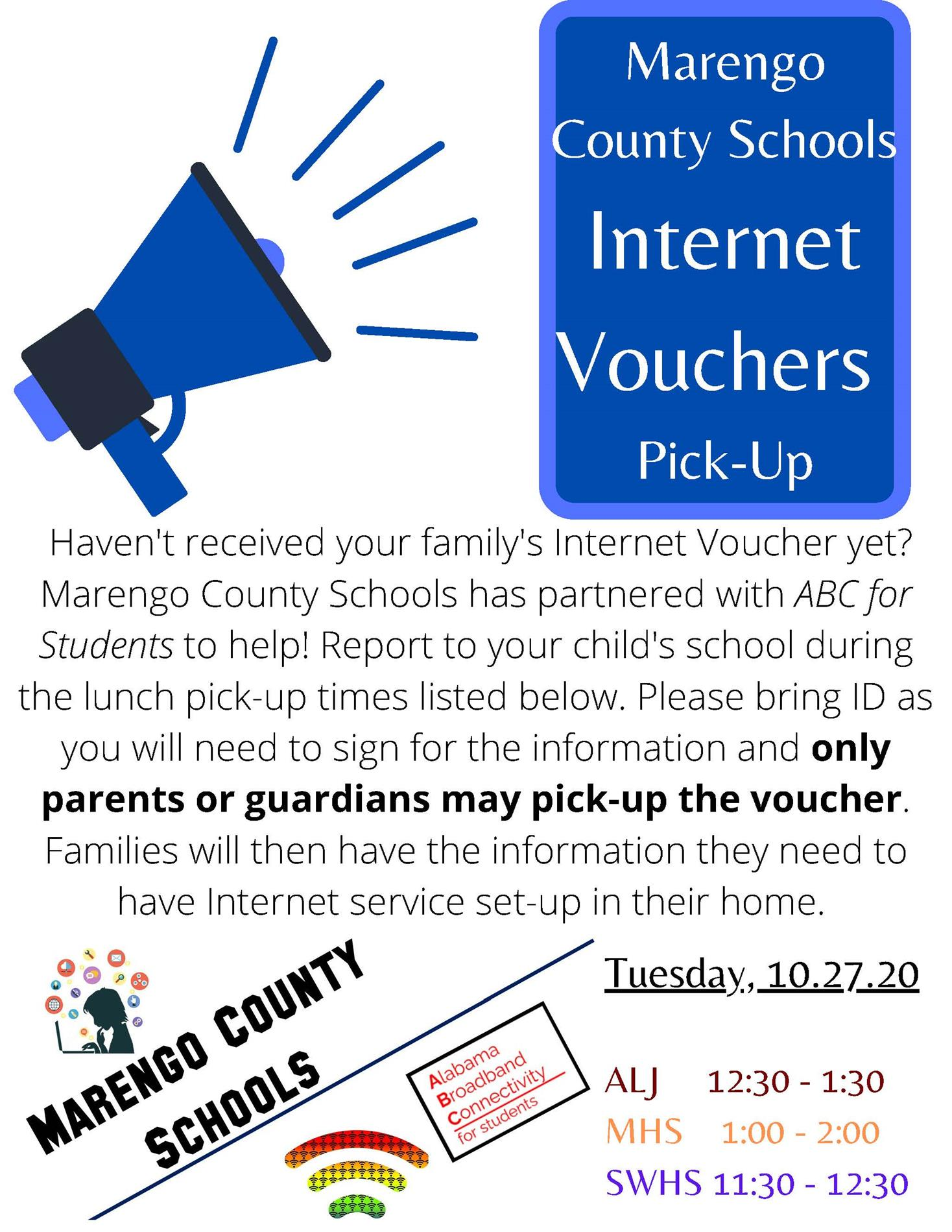 Voucher PickUp Announcement