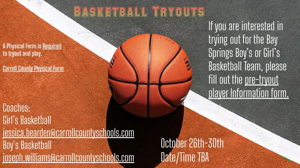Basketball Pre Tryout Information