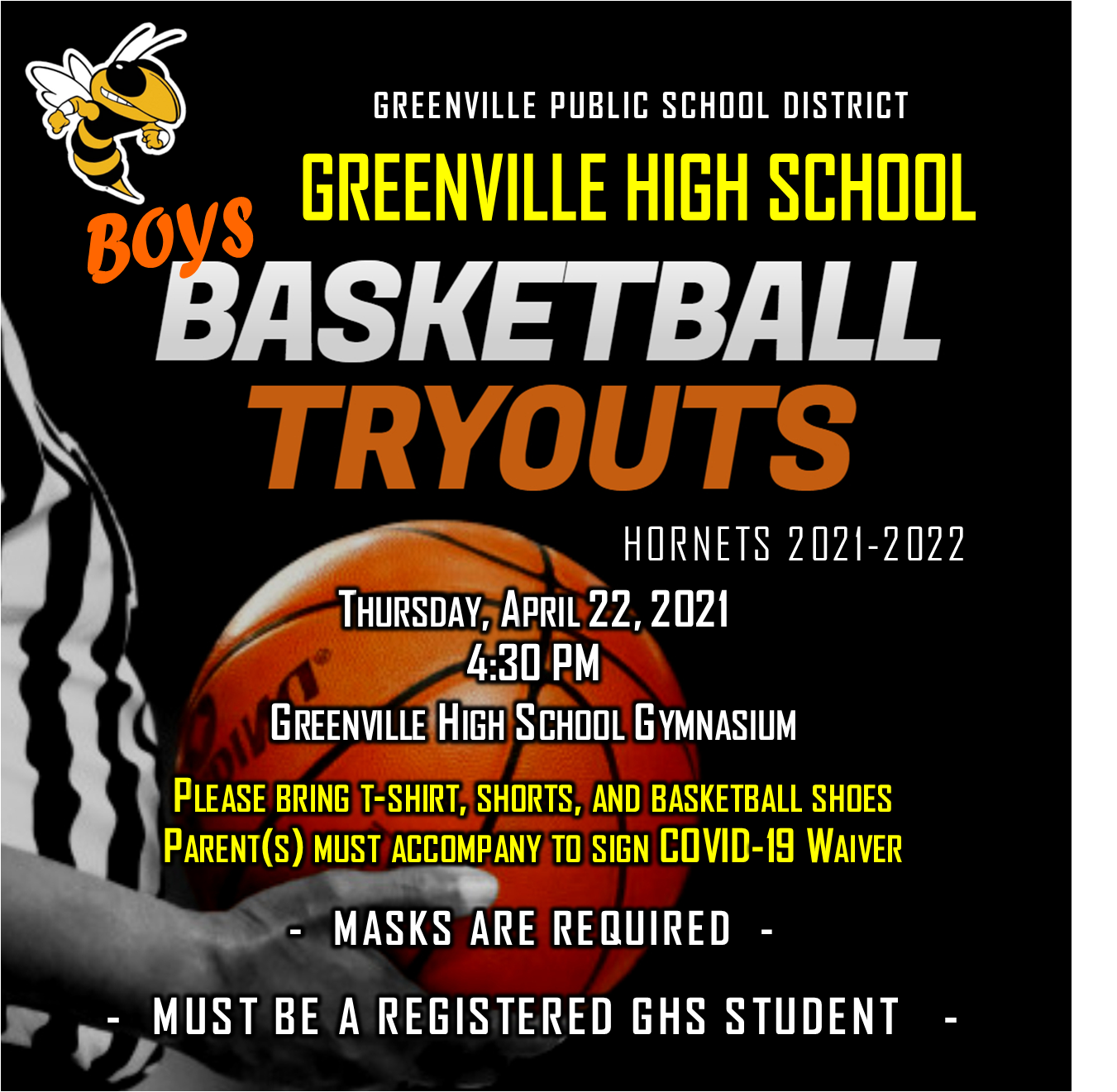 GHS Boys Basketball Tryouts