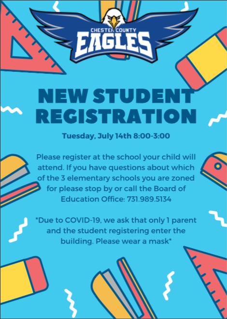 New Student Registration Flyer