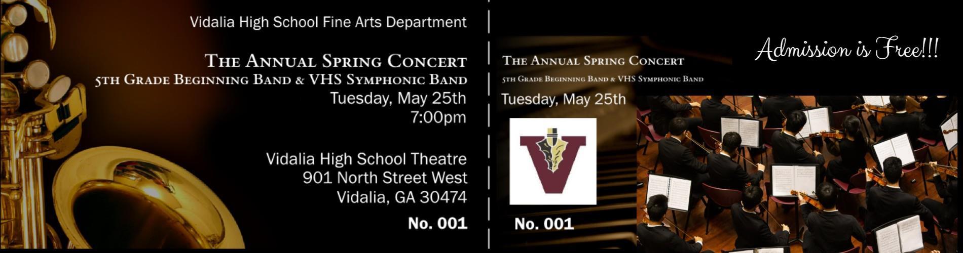 Spring Concert Announcement
