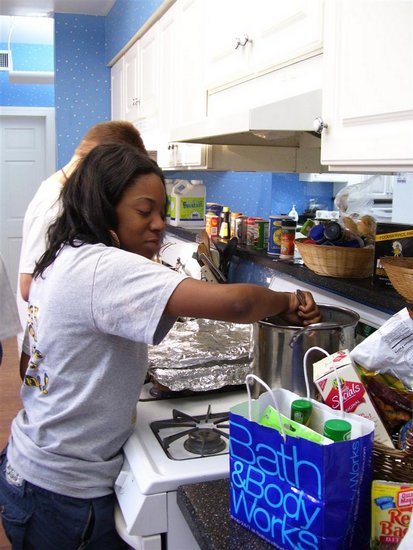 Cooking for Ronald McDonald House 2008