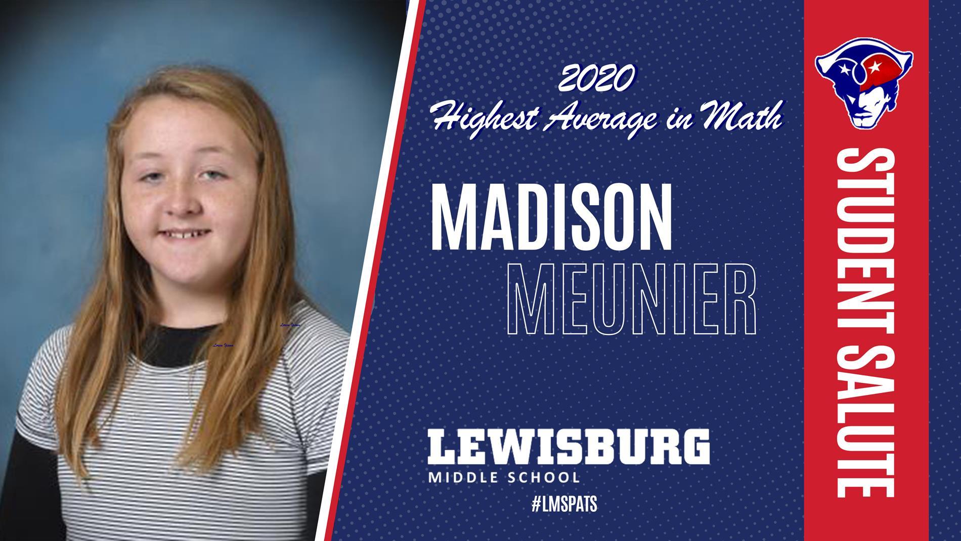 Congrats Madison!