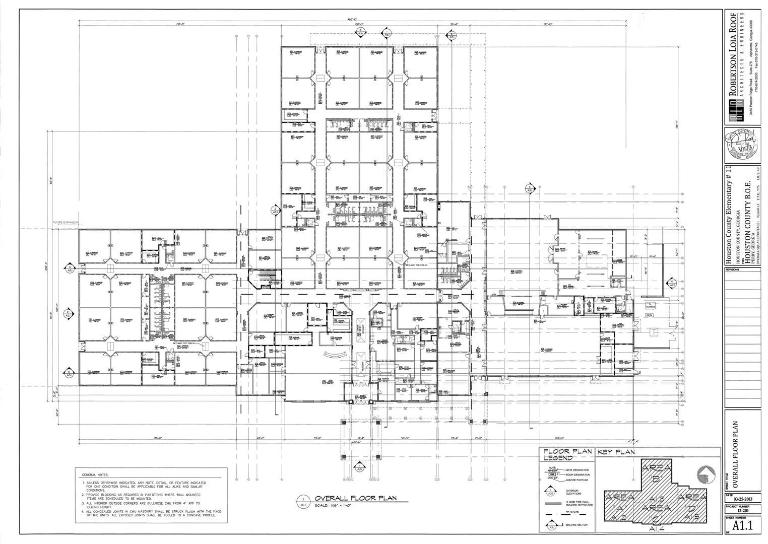 Langston Road Elementary Overall Floor Plan