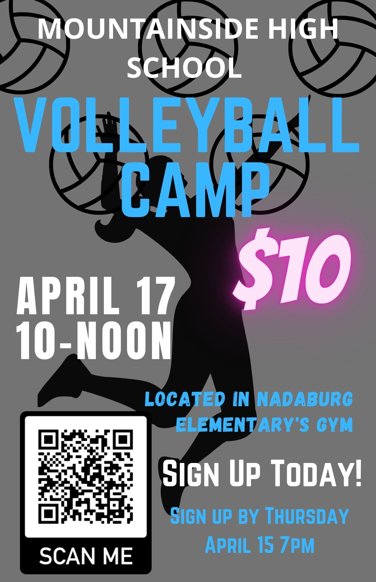 April Volleyball Camp