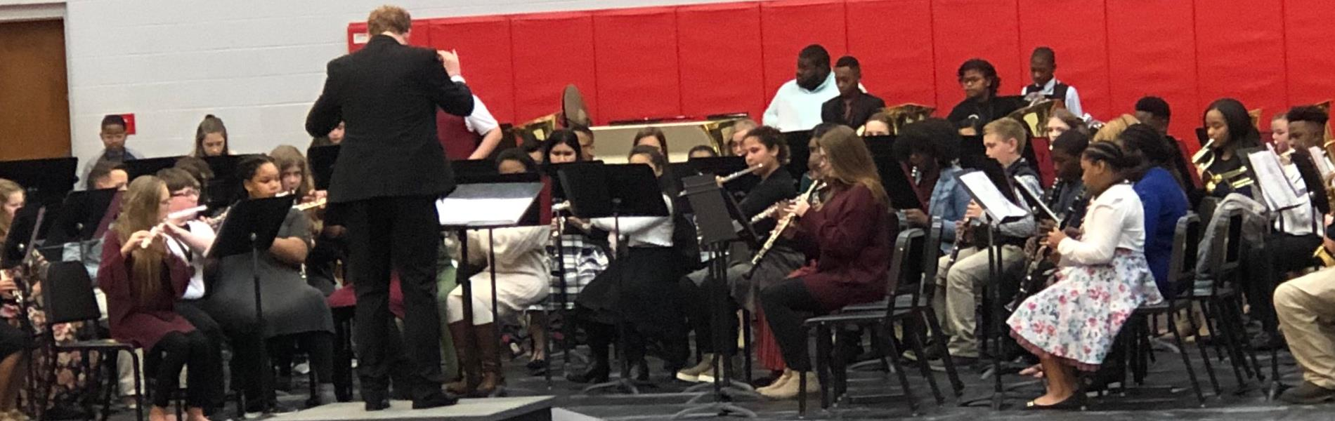 Mr. Garner directs band concert
