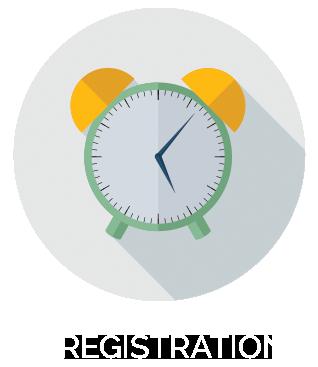 clock registration icon