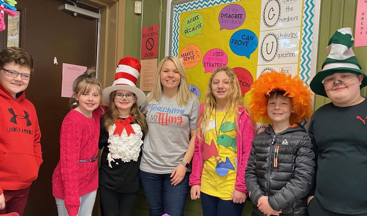 Mrs. Sims and Her Kids on Dr. Suess Dy