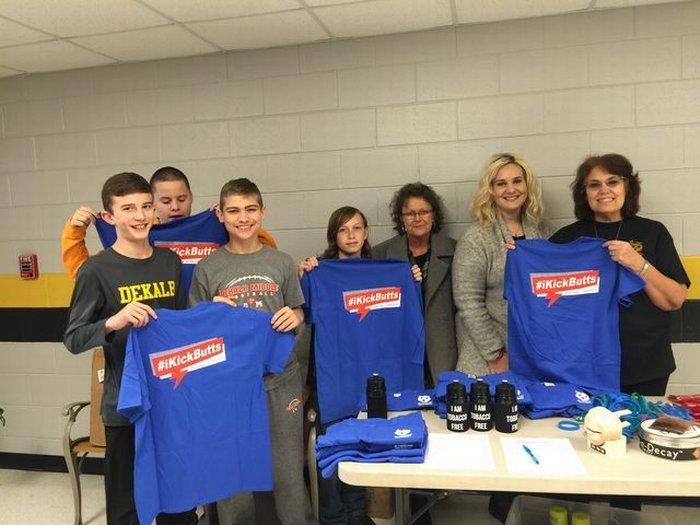 DWS Kick Butts T-shirt donated by St. Thomas hospital.