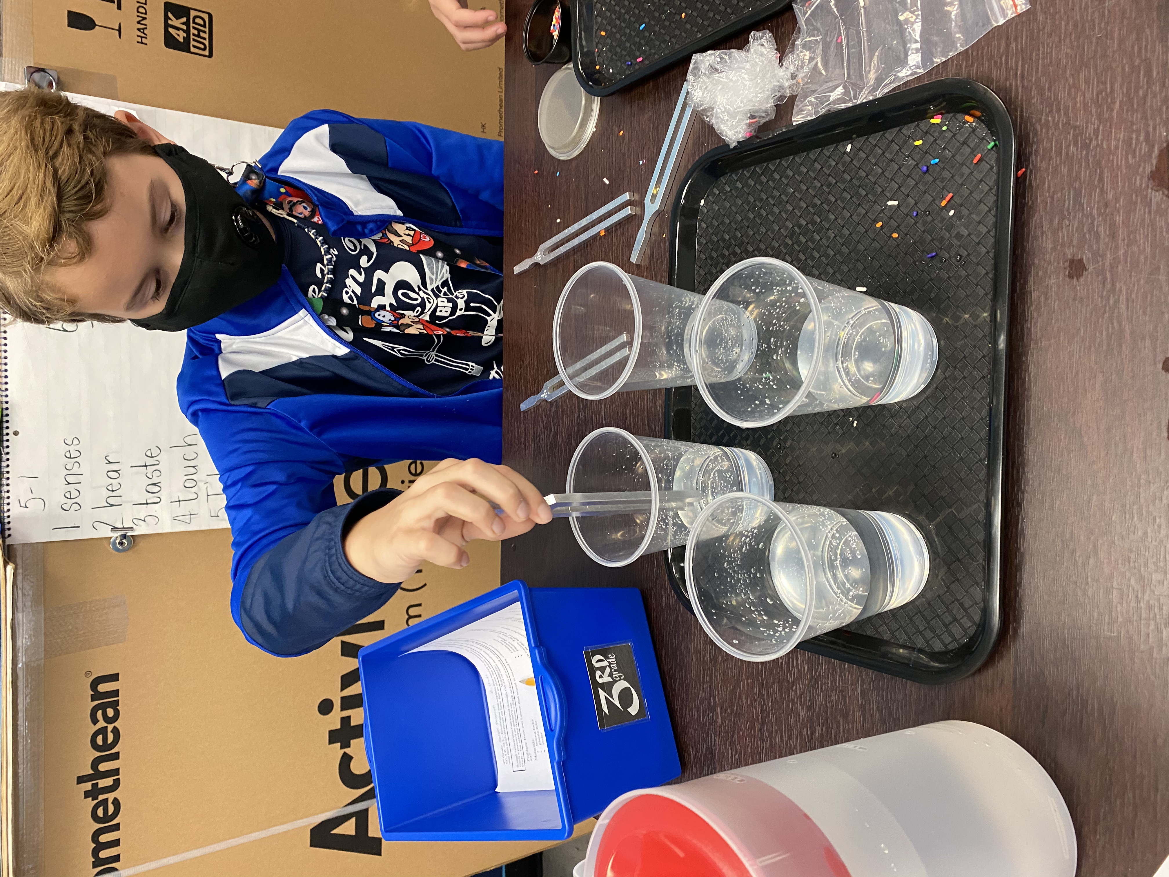 Observing how Sound Energy moves water