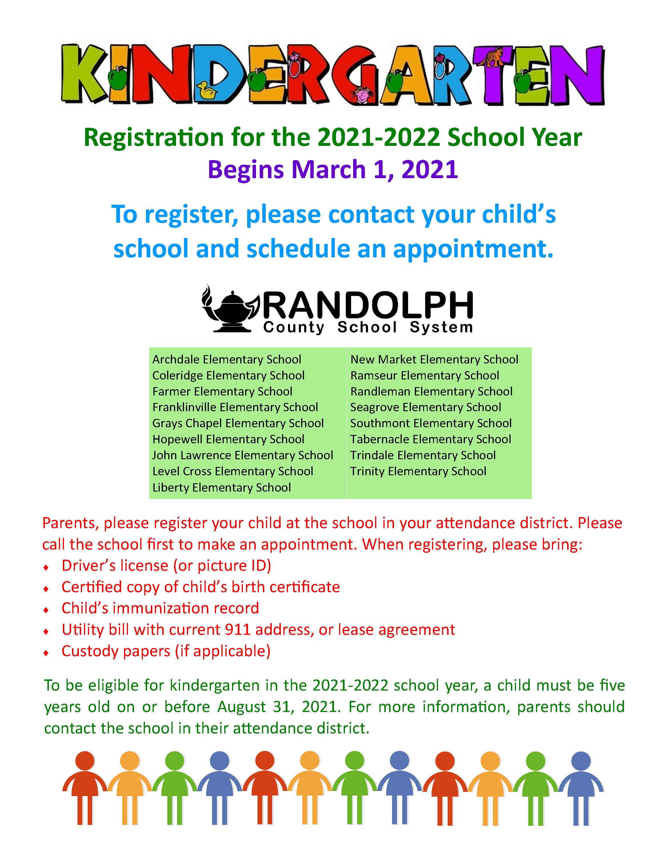 Kindergarten Registration English