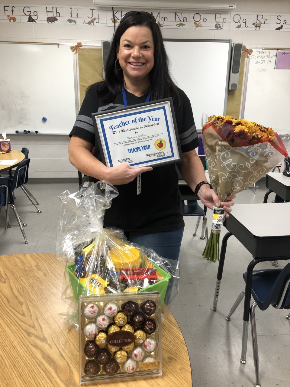 Theresa Nelson honored as Teacher of the Year