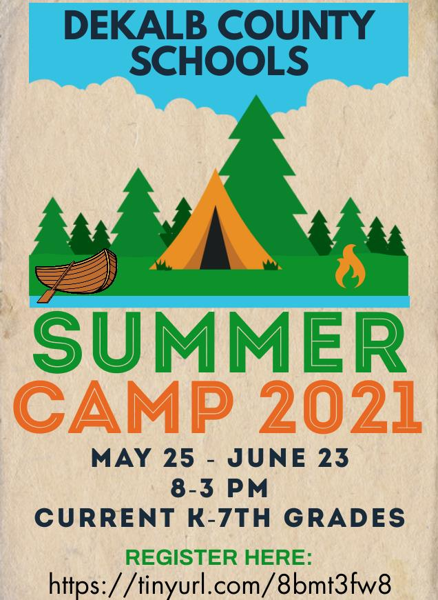 Summer Camp Registration Grades k - 7th