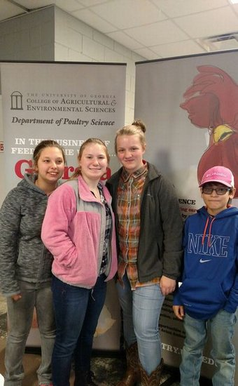 The FFA Poultry Judging Team won first place in the Area Career Development Event competition held on Februay 10, 2016. Team members Olivia McLemore, Bailee Davidson, Jacob Castillo, and Ashley Lindstrom will represent Area III in the State competiton which will be held in March. In addition, Olivia McLemore was the 2nd high scoring individual in the Area competition.