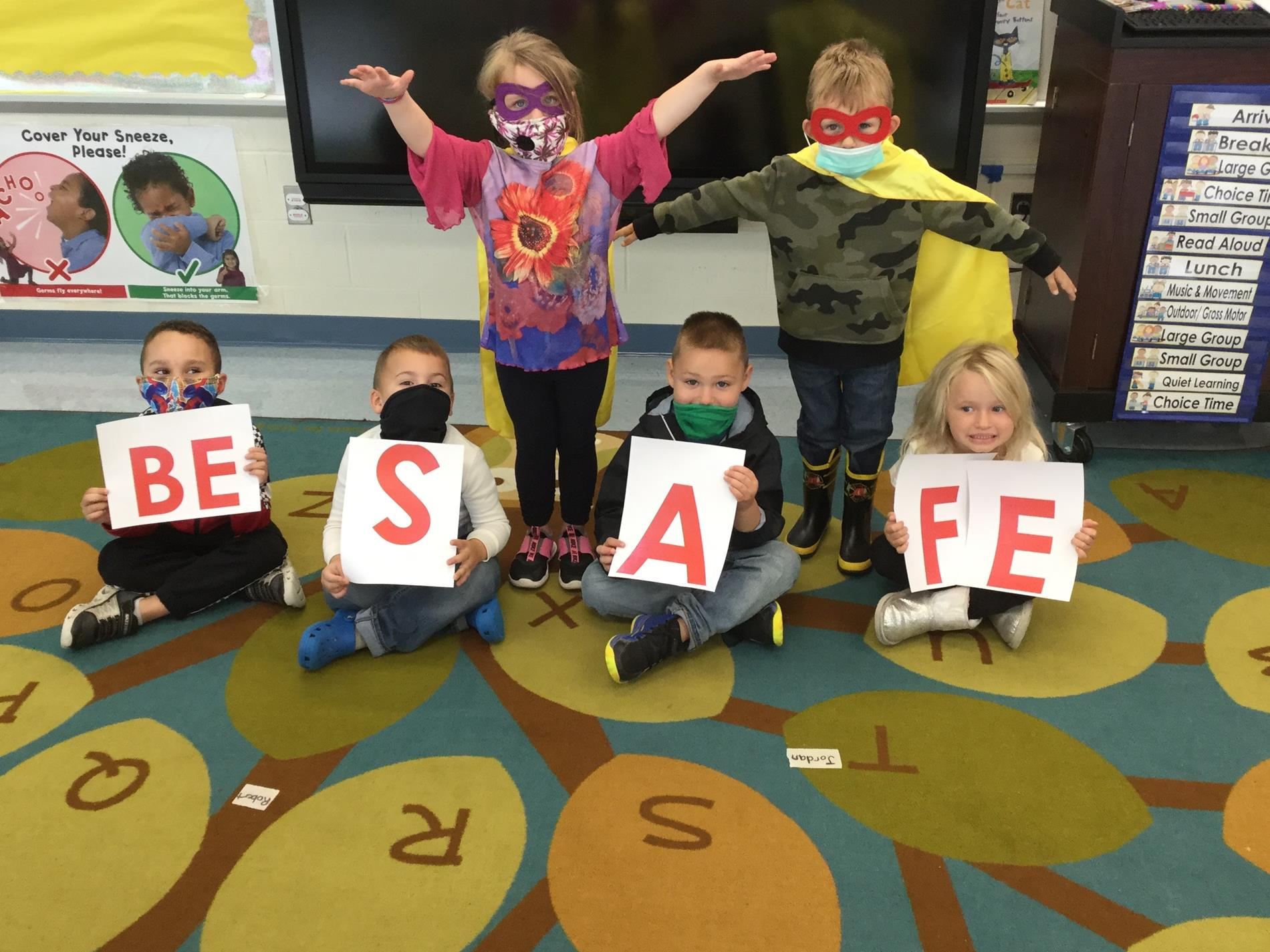 Children enrolled in the Athens 3 classroom of Bradford-Tioga Head Start, Inc. are learning what it takes to be a Head Start Hero! From left to right Andrew, Matthew, Adalynn, Oliver, Brentlee and Brouki.