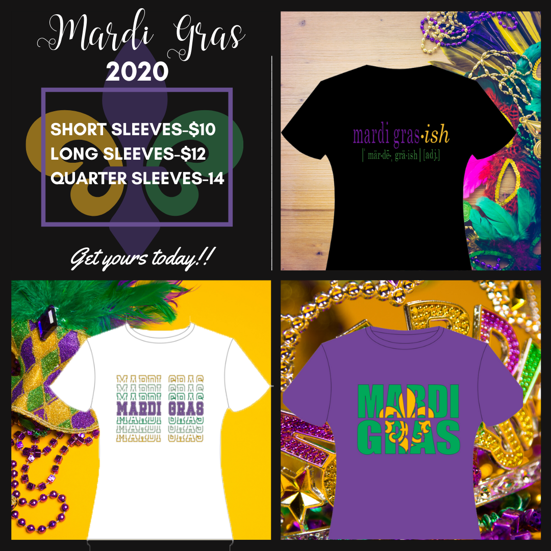 Mardi Gras shirts for sale