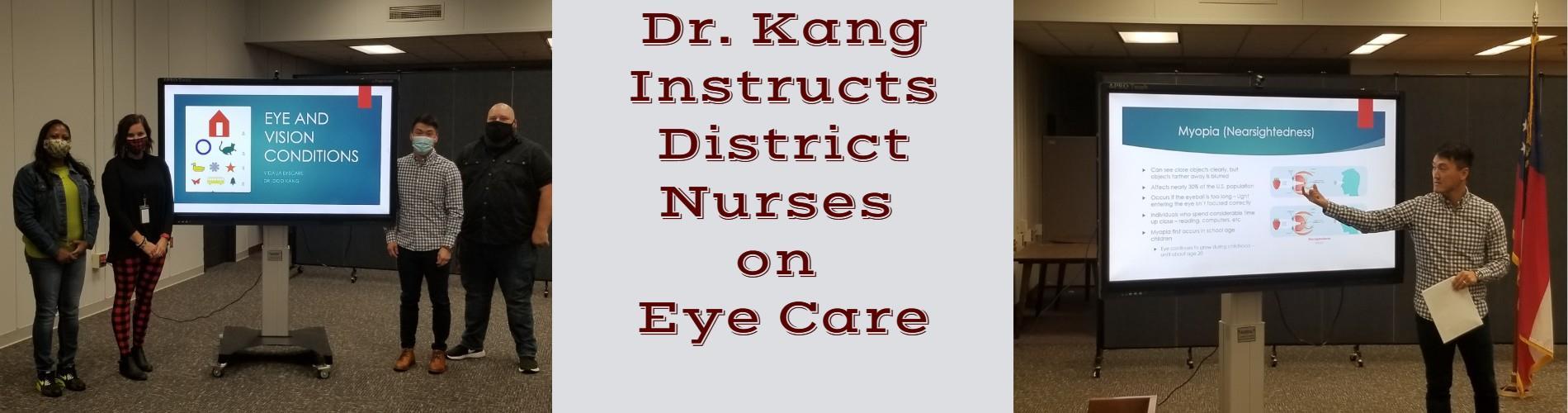 Dr Kang w/School Nurses