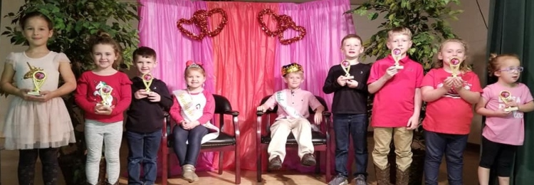 Students that are part of the Valentine Day Court