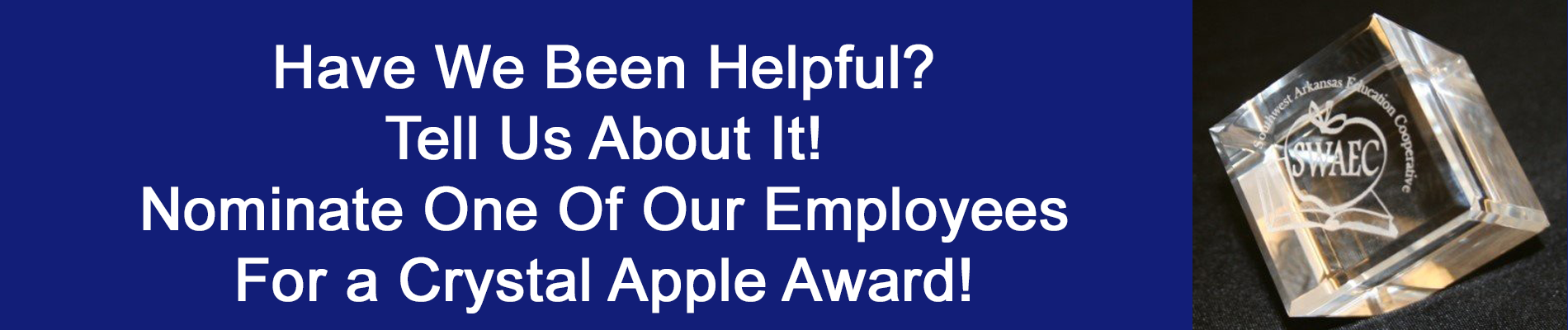 help us reward an employee today!