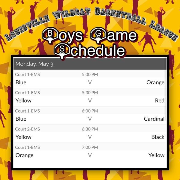 B Ball Schedule 2