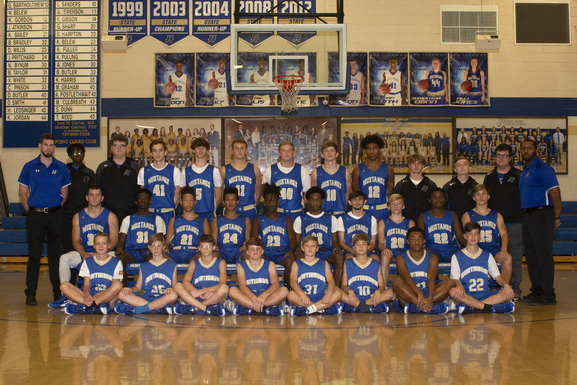 Mustang Basketball Team