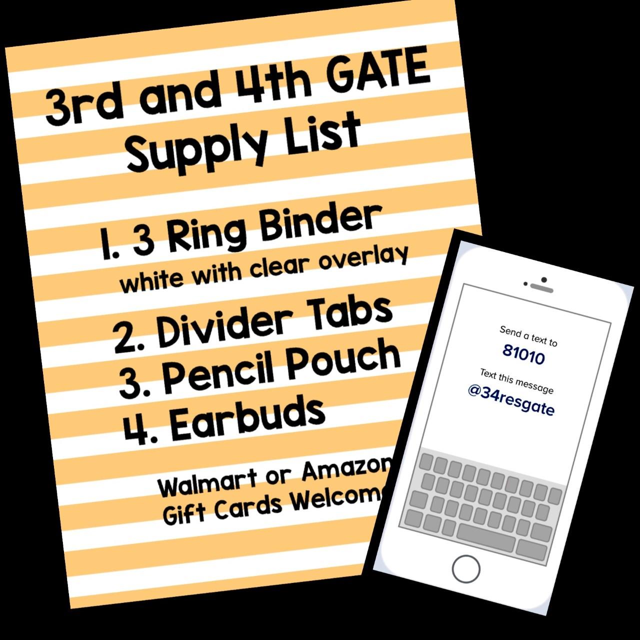 Supply List & Remind