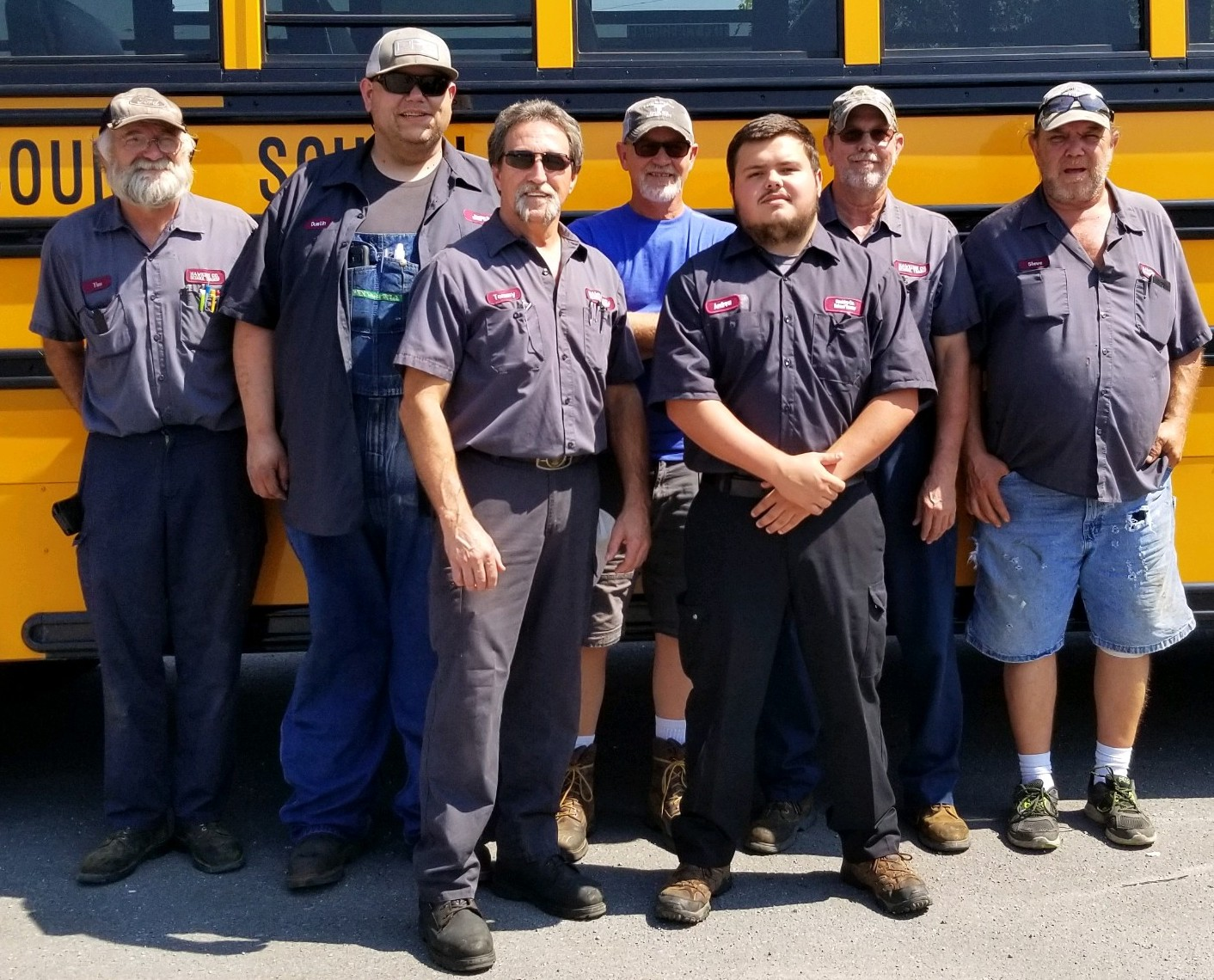 Transportation Mechanics  From Left to Right:  Tim Manis, Dusty Trent, Tommy Hall, Troy Marcum, Andrew Justice, Rick Hunley, Steve Seals