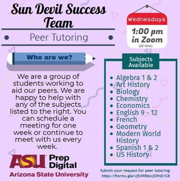 ASU Peer Tutoring