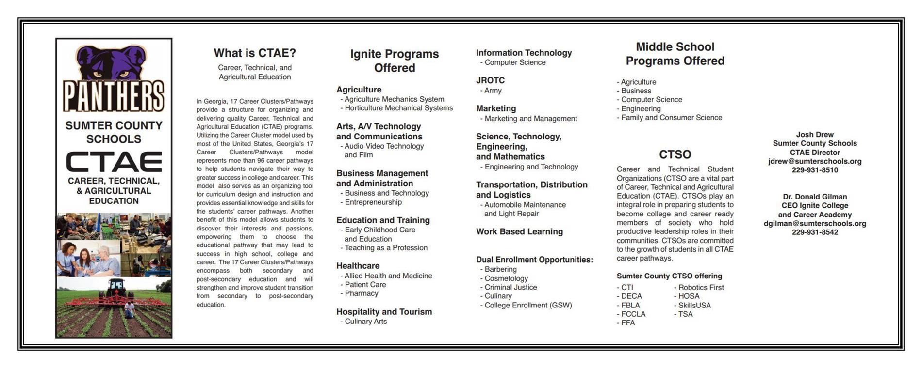 CTAE Brochure