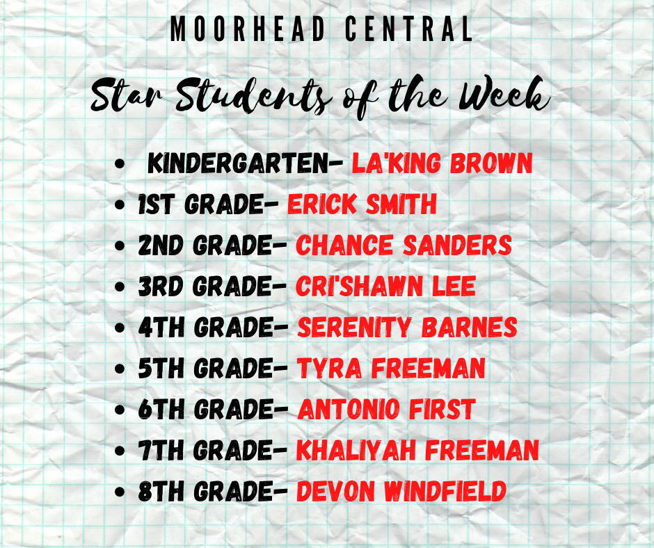 MCS Star Student of the Week