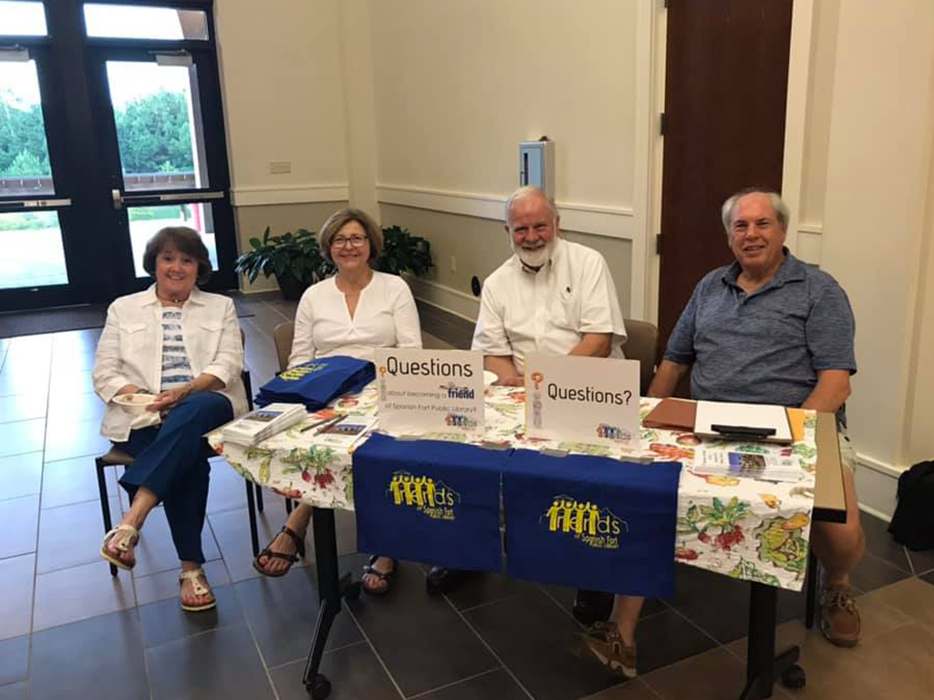 Friends of SFPL at  a recruitment table during the 2019 SFPL Publix 3rd Annual Ice Cream Social