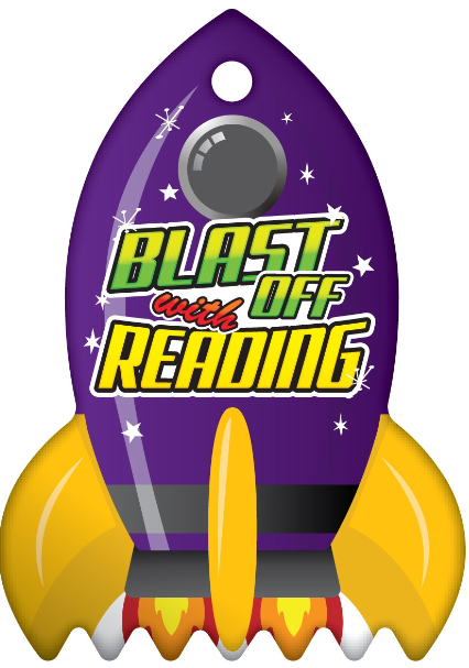 Blast off With Reading Logo