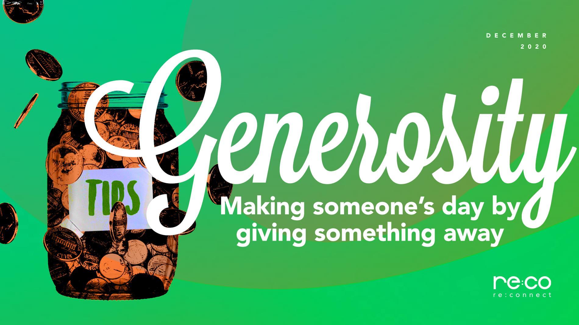 December 2020-Generosity