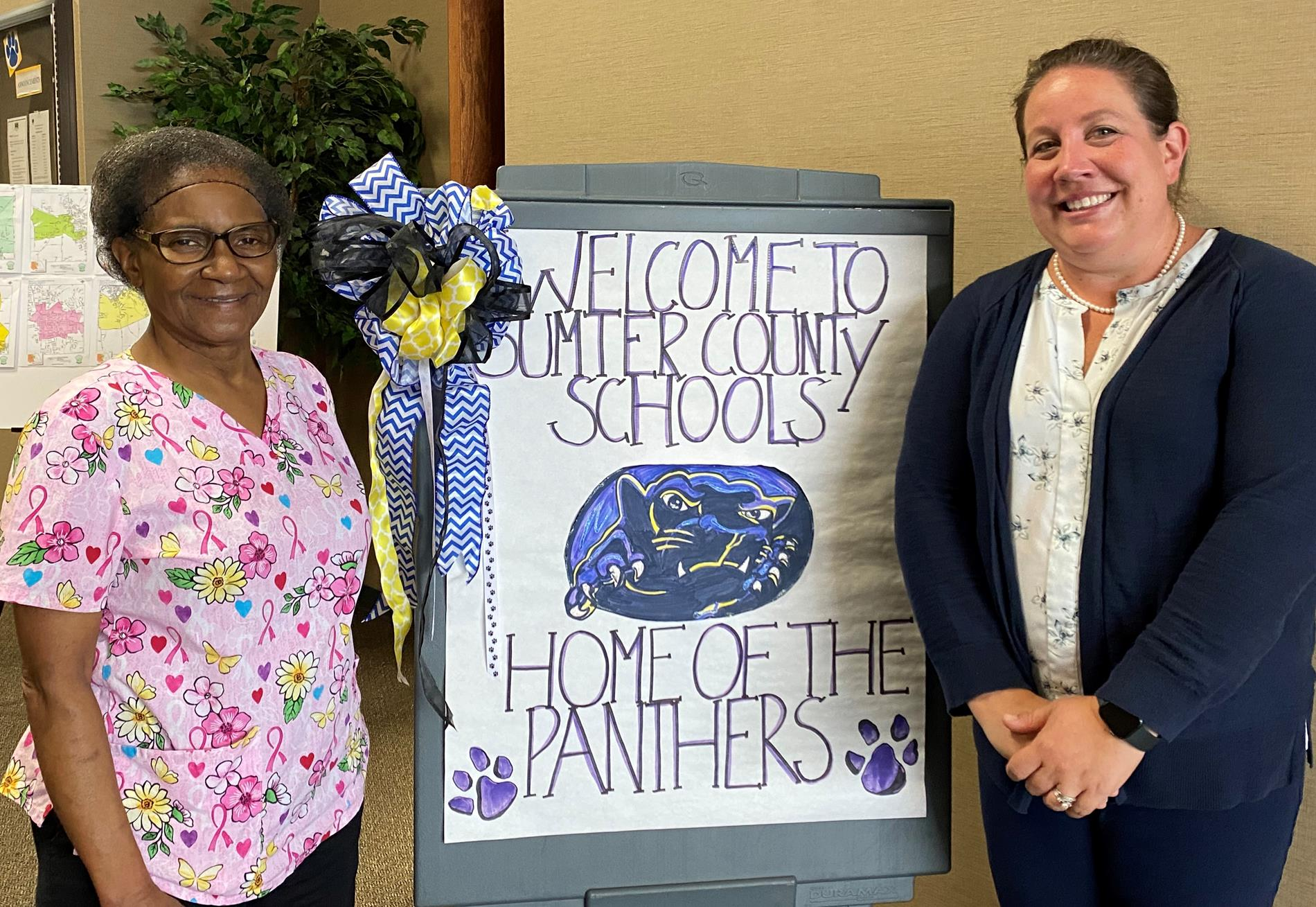 Pictured Left to Right: Mrs. Lorraine Lassiter, Sumter County Elementary School Nutrition Manager and Sumter County Schools' Nutrition Director, Margaret M. Goodin RDN, LD