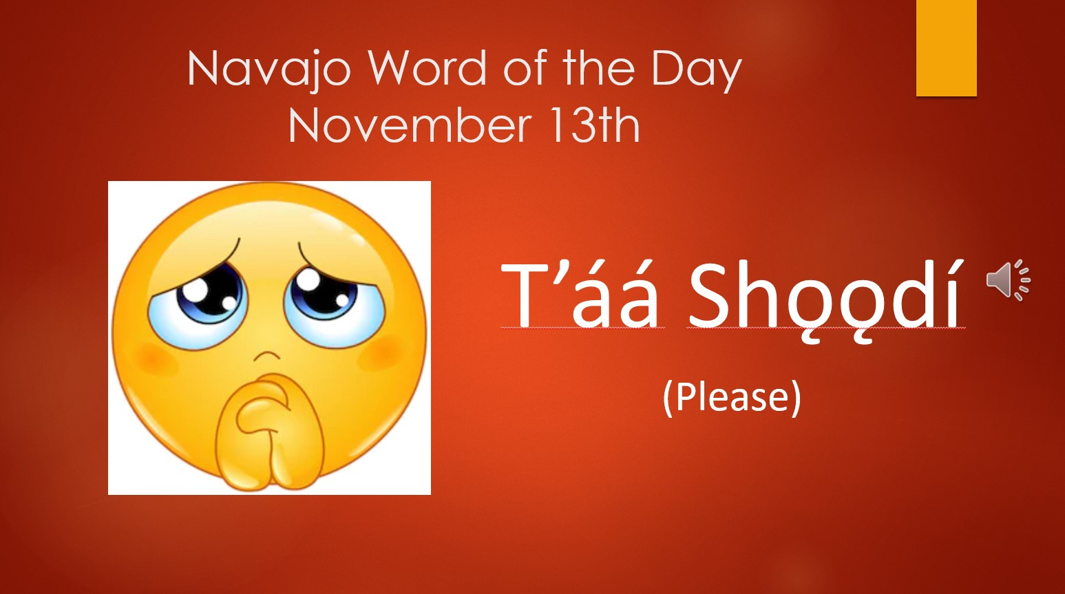 Graphic for Navajo Word of the Day