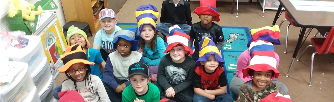 Kindergartners enjoy Dr. Seuss celebration