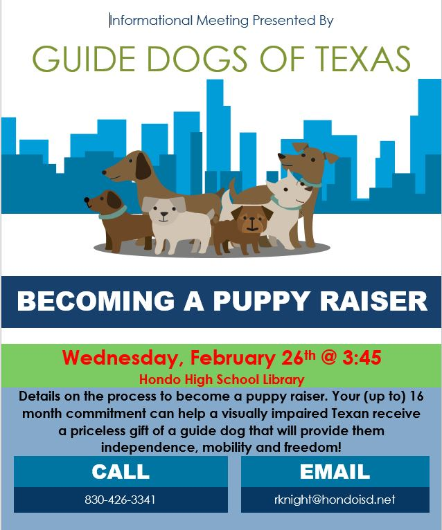 Info Meeting on Guide Dogs of Texas