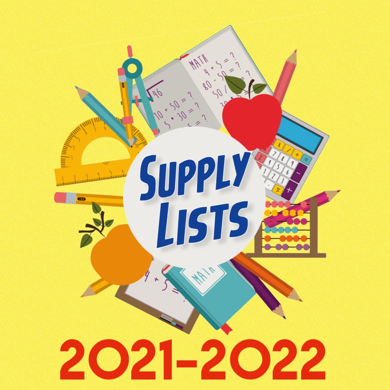 Supply List 2021-2022